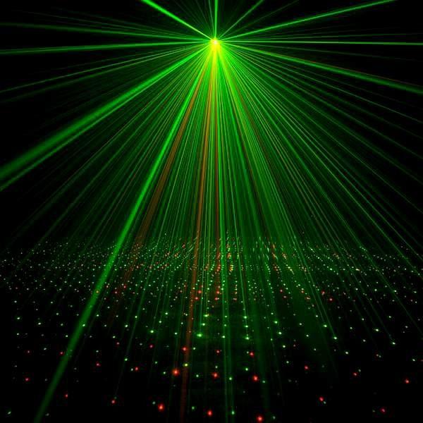 laserové osvětlení na zahradní párty, Galaxian 3D