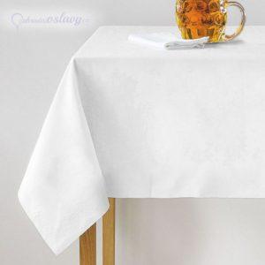 bílý ubrus 140 x 240 cm