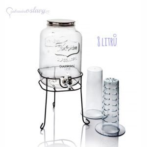 skleněná nádoba na nápoje 8l