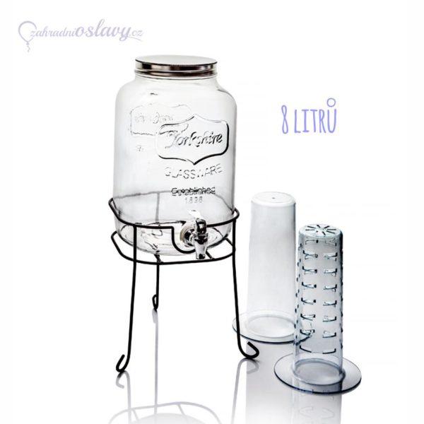 nádoba na nápoje skleněná, 8l - pronájem