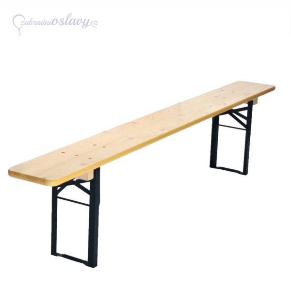 pivní lavice 220x27 cm, pronájem