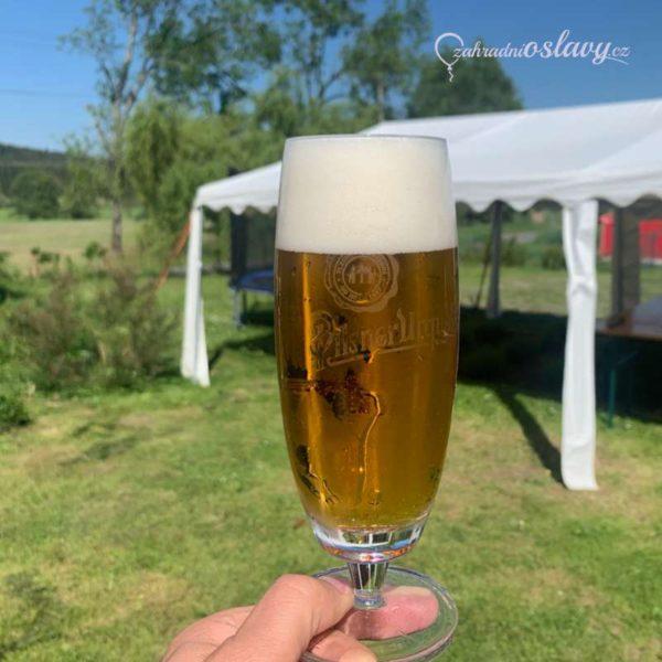 pivní sklo, půjčovna